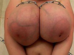 Busty bound babe Eva naked