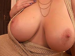 Gorgeous Edo showing us her great boobs by the fireplace