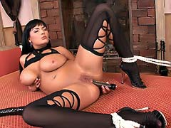 Hot Jasmine Black bound & fucked hard with vibro