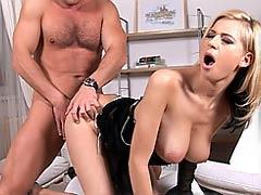 Blonde Anastasia De Vine's tits get fucked hard