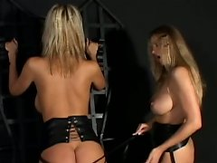 Horny busty babes Carol & Nikita's latex action