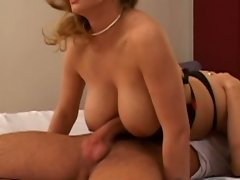Busty hot babe Constance Devil gets titty fucked
