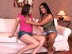 Busty lesbians Jasmine Black & Rye's sex action