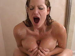 No matter where Kelly is, she always has unexplainable sexual urges. While in the shower, Kelly couldn't resist getting turned on by the strong s