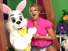 Kelly gets thump-her fucked by the Easter bunny.