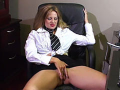 "Mrs. Madison was waiting anxiously for her favorite mail boy to drop off her special ""package"". She sat stroking her pussy waiting for the f"